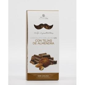 Chocolate con Leche al 42% con Tejas de Almendra Rafa Gorrotxategui
