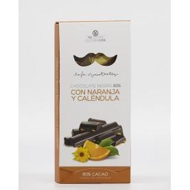 Chocolate Negro 80% con Naranja y Caléndula Rafa Gorrotxategui